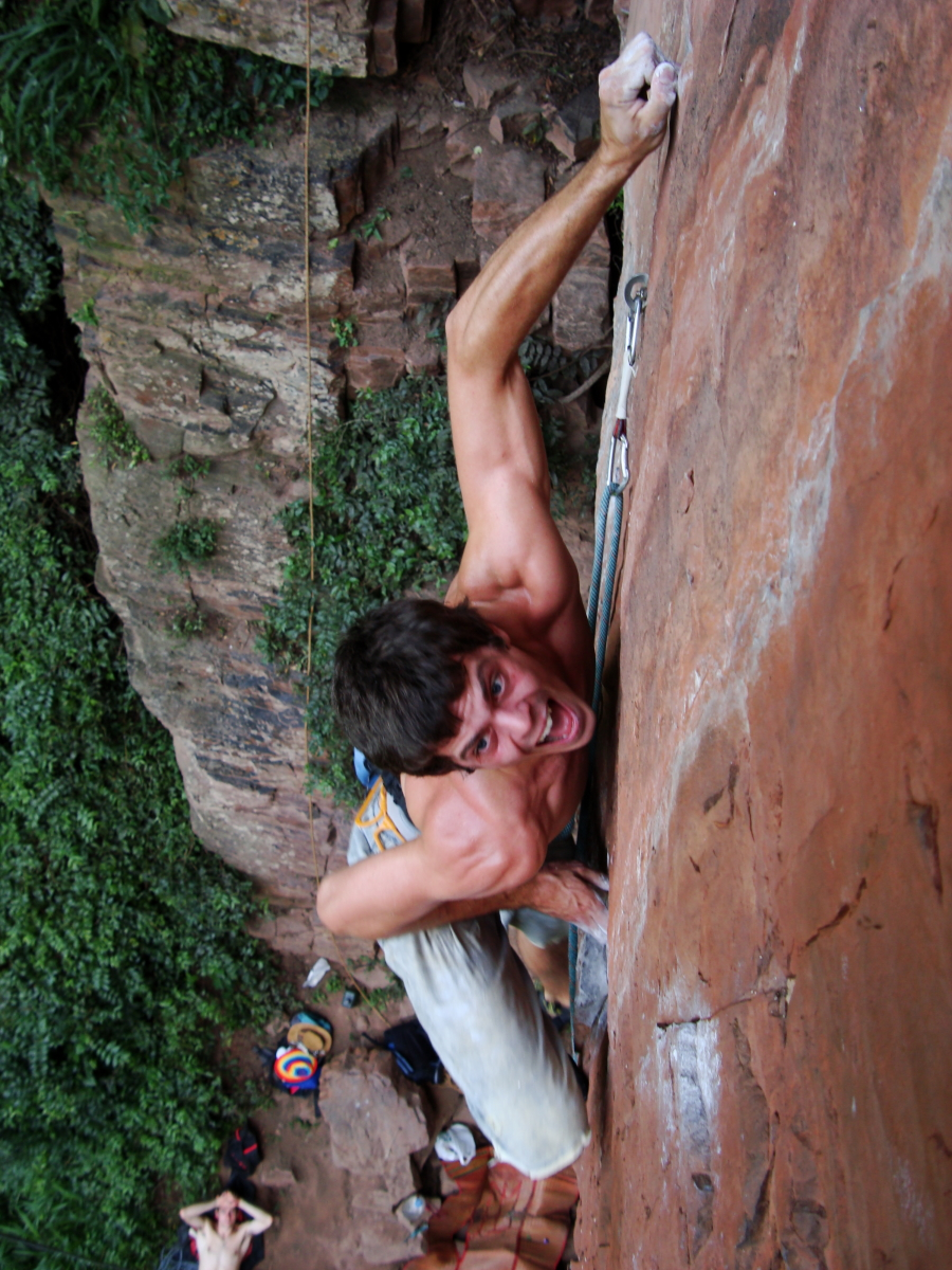 Mathieu Schneuwly, Canyon, Eroica wall, Natal. 