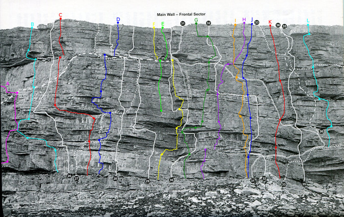 Tafelberg, Main Wall, Frontal Sector.