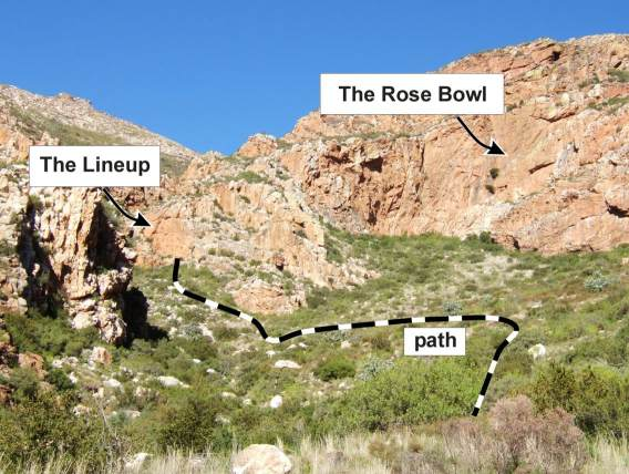 path to the Rose Bowl