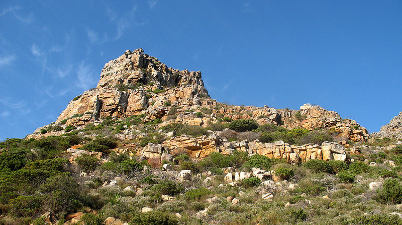 View from below of Lakeside Pinnacle from Boyes drive.