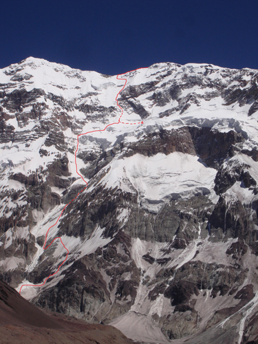 Solo New Route on Aconcagua South Face