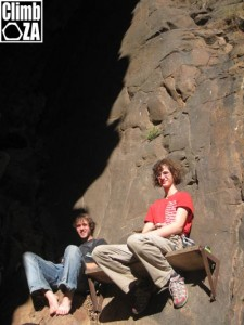 Benj and Adam chilling out at Jurassic Park, Montagu Pic: Justin Lawson