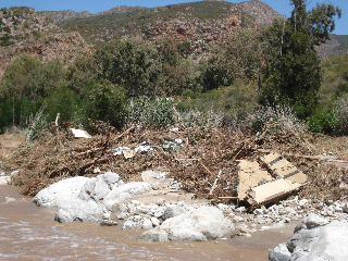 Some of the rubble in Badkloof. This was a house!