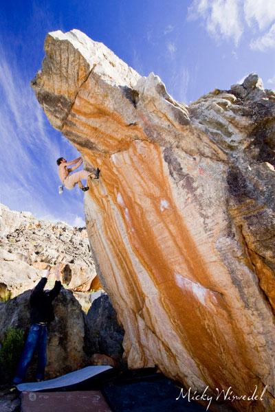Climber on Ulan Batar