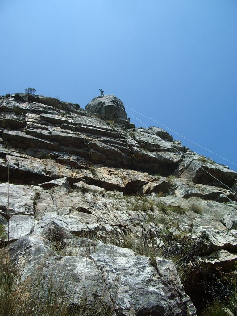 new route on the lower buttresses