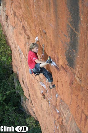 Clinton Martinengo flashing Snapdragon 7c+/29 at Waterval Boven