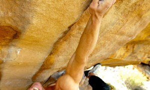 Arjan De Kok on sending Green Mamba (8B) at Rocklands