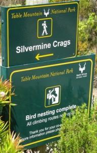 Birds nesting sign