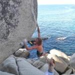 Matt Bush climbing Llandudno