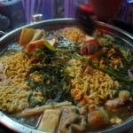 The hot pot, a giant pot/hotplate combo into which you get to throw raw ingredients