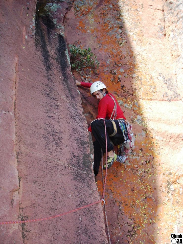 Brian Weaver rock Climbing