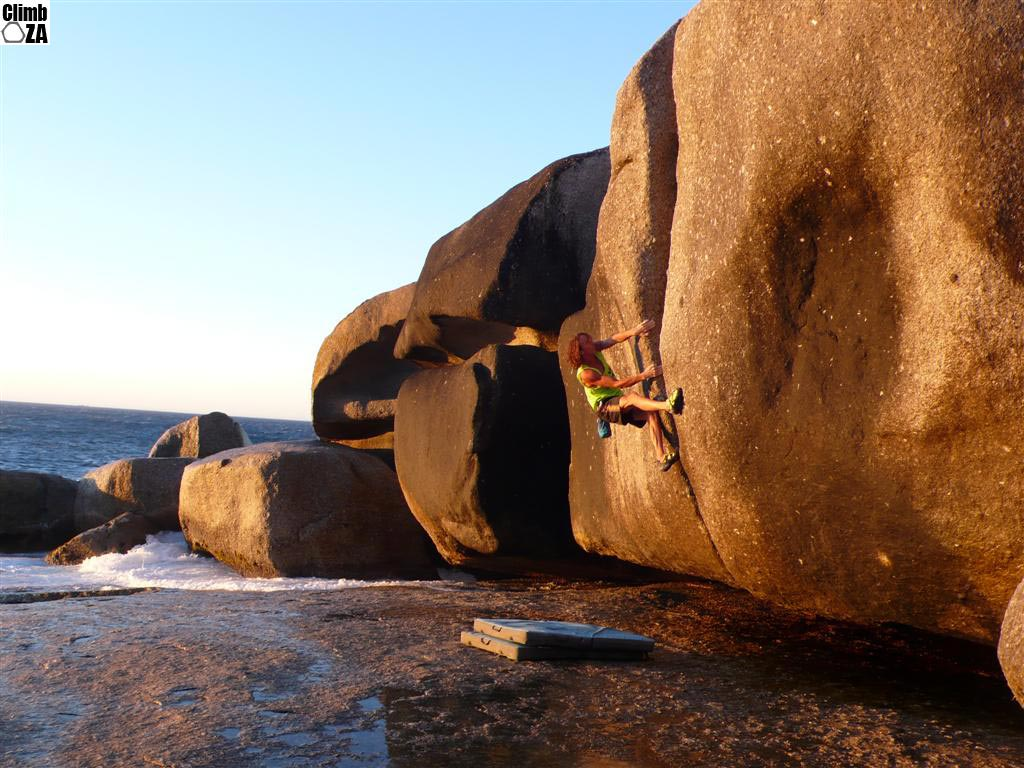 Matt Bush Bouldering at Llandudno
