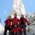 The 2005 Team:  Lef to right: Marianne Pretorius, Andreas Kiefer, James Pitman, and Peter Lazarus. The team summited Trango's nameless Tower via the Slovenia route. They are the first South Africans to summit that karakorum Spire.