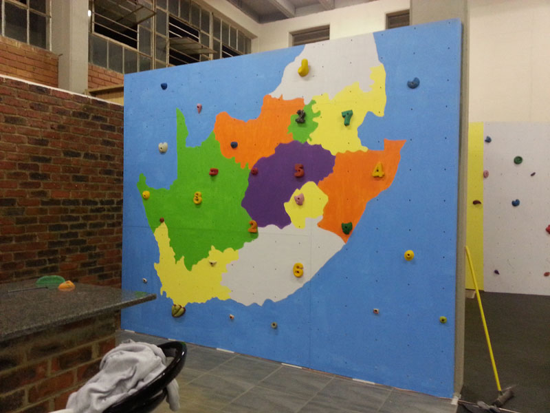 South African Map Climbing Wall