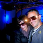 Carla Bruni (Live) and one of the Kontrol DJ&#039;s (Micky) about to take to the stage - Photo by Live Lundemo