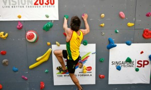 South Africa climbing team in Singapore