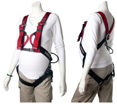 Rock climbing harness for pregnant women