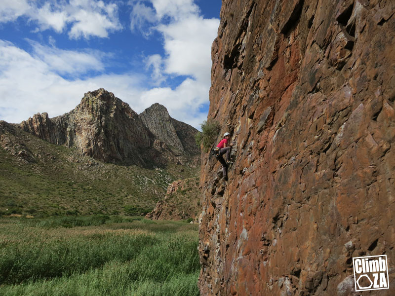 Riki Lawson on the Unforgiven at the Steeple in Montagu