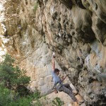 Alex Honnold climbing at the Scoop in Montagu