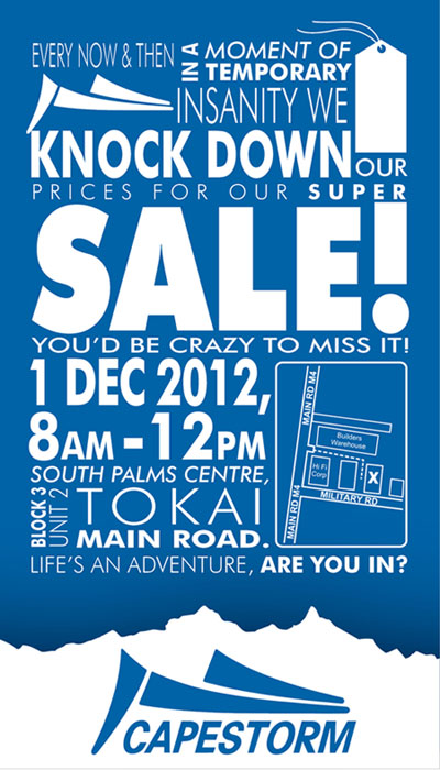 Capestorm Sale December 2012