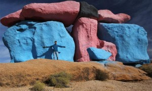 Joe Mhle at the Painted Rocks area near Tafraout.
