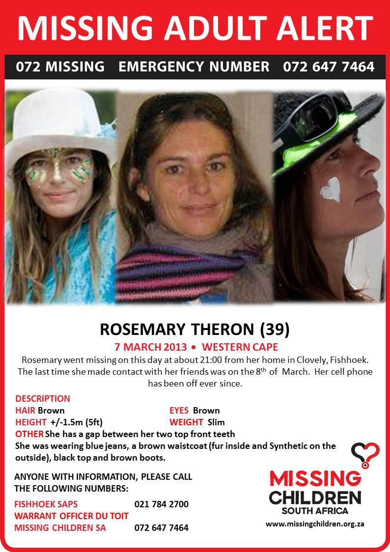 Rosemary Theron missing