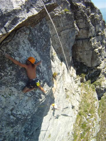Matt Bush on Dynamighty (38) on Table Mountain