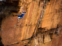 Flex climbing Tokolosie at Waterval Boven