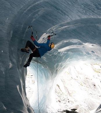 ice climb cave