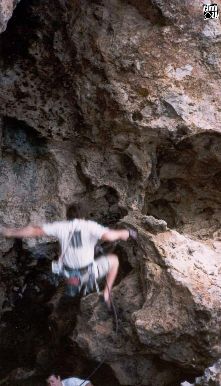 Climber falling due to bolt failure