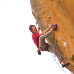 Andrew Pedley rock climbing