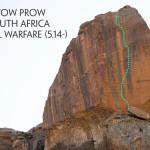 Paige Claassen rock climbing South Africa