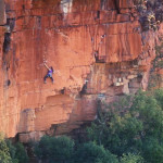 Paige Claassen Waterval Boven rock climbing