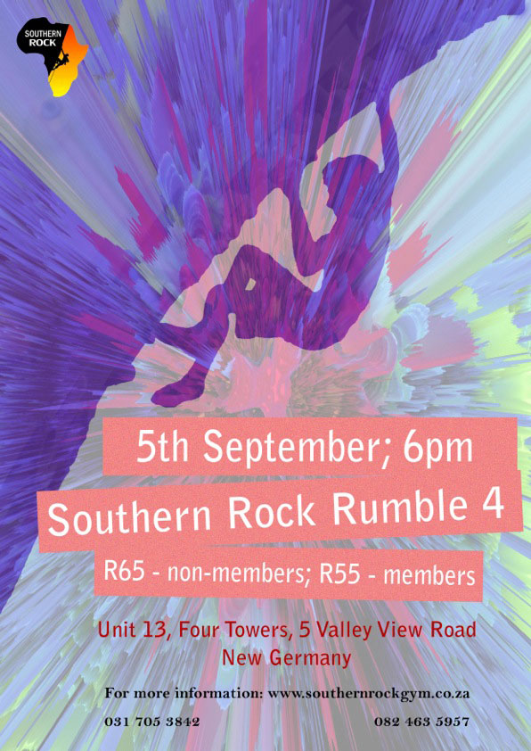 Rumble Boulder Competition at Southern Rock climbing gym