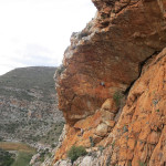 Sasha DiGiulian rock climbing in Montagu, Badkloof, South Africa