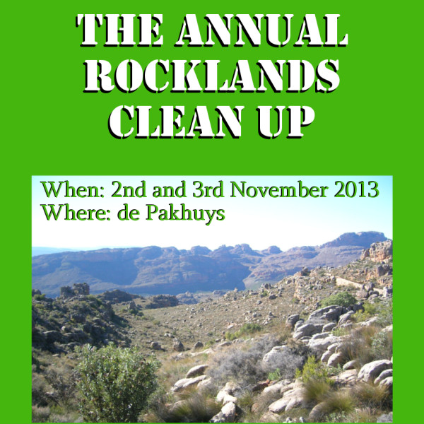Rocklands Annual Clean Up 2013