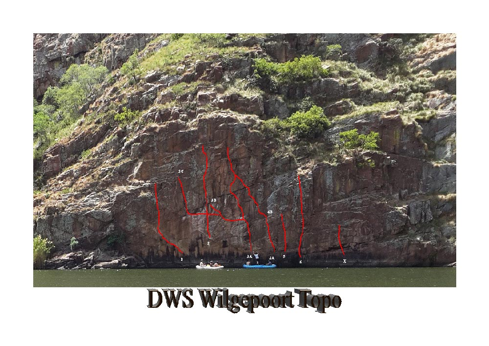 Deep Water Soloing South Africa Wilgepoort Route Description