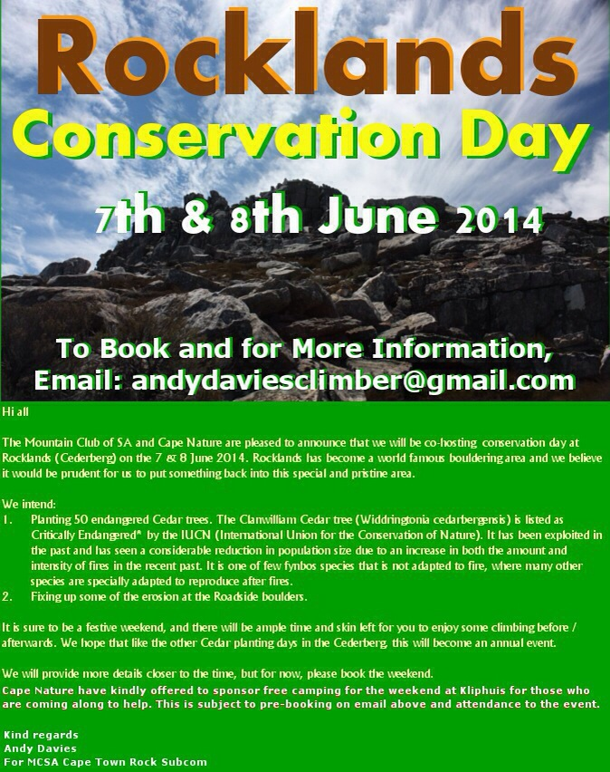 Rocklands conservation Day