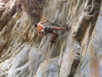 Andrea Biffi climbing Not For Sale at the Scoop, Montagu, South Africa