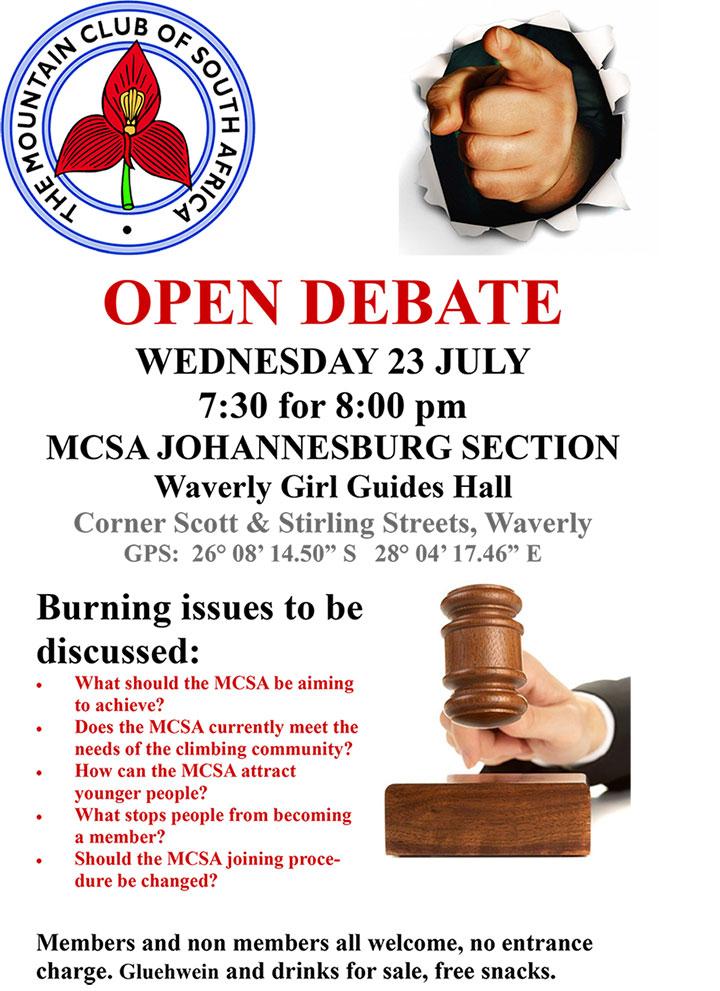 MCSA Debate 2014