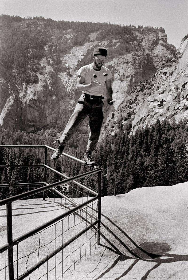 Chuck Pratt Rock climbing