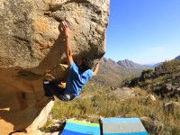 Paul Robinson climbing in the Cederberg