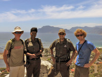 Rangers Hiking Protest Crime South African National Park