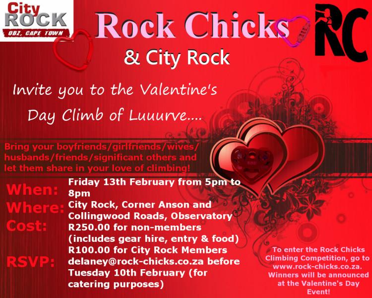 Rock Chicks And Cityrock Valentine S Day Event Climb Za Rock
