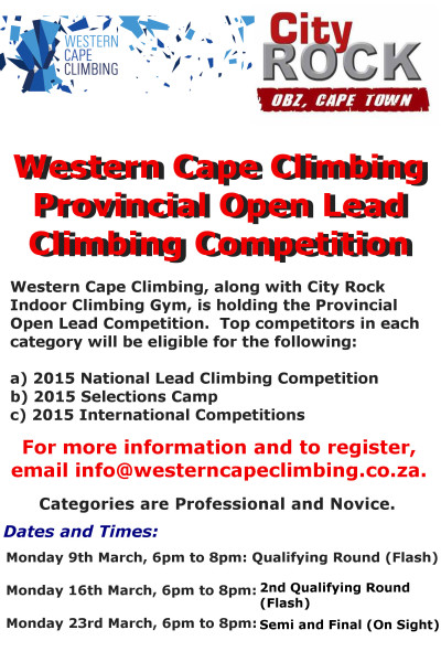 WCC Provincial Open Lead Climbing Competition 2015