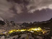Everest basecamp nighttime