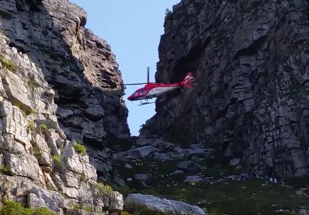 Platteklip Gorge helicopter rescue