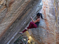 bouldering in Rocklands