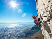 Gosia Lipinska climbing Table Mountain
