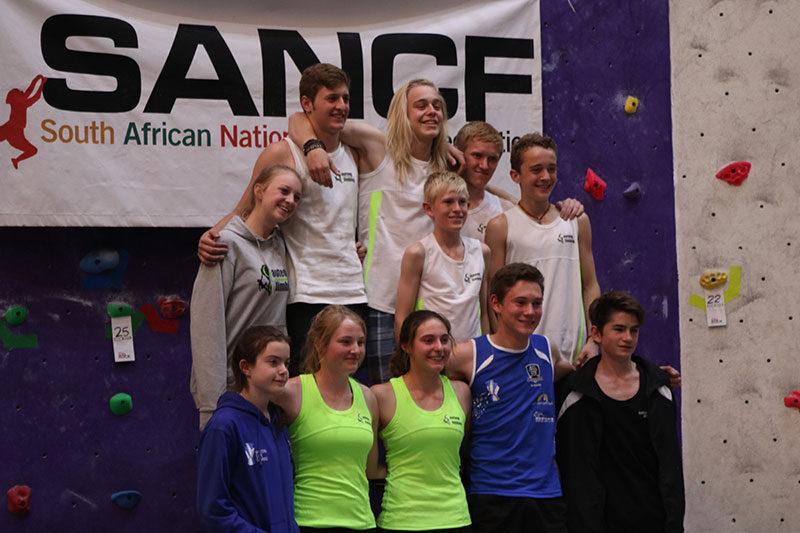 Climbing team south Africa 2016